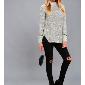 RD Style Foggy Night Mock Neck Sweater Tunic